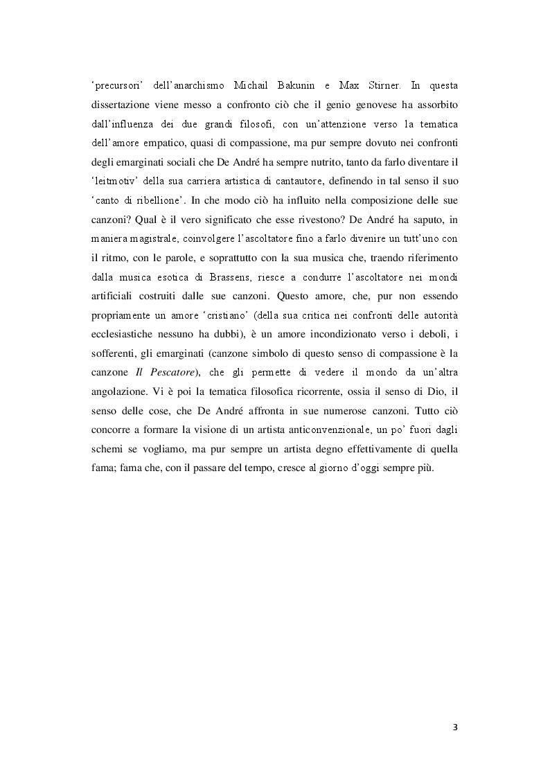 Anteprima della tesi: Signorina anarchia. Fabrizio De André tra musica e filosofia, Pagina 3