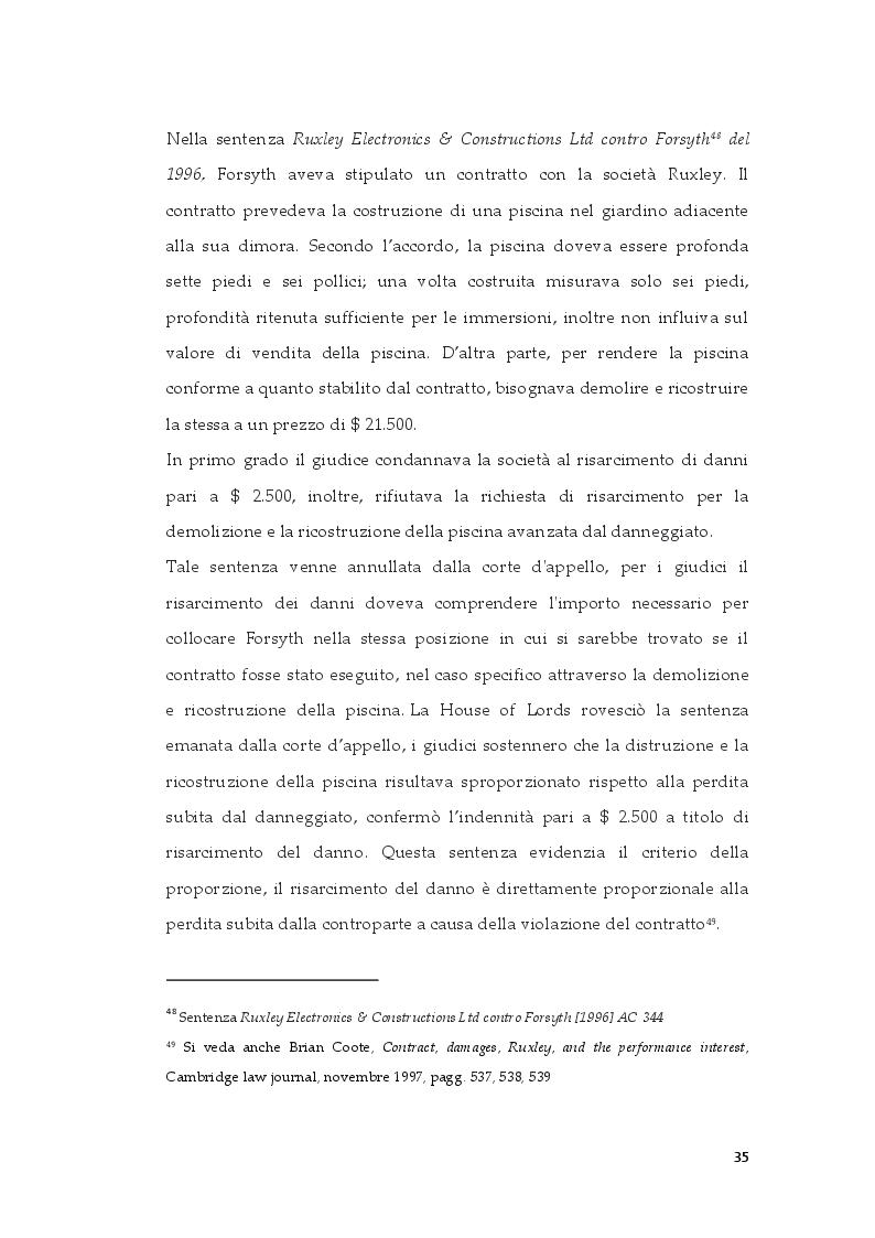 Estratto dalla tesi: Tipologie di risarcimento del danno contrattuale. Profili di diritto comparato