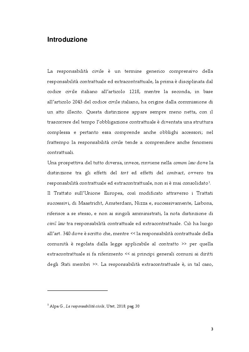 Anteprima della tesi: Tipologie di risarcimento del danno contrattuale. Profili di diritto comparato, Pagina 2