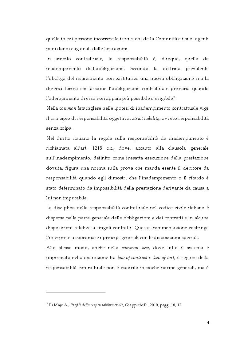 Anteprima della tesi: Tipologie di risarcimento del danno contrattuale. Profili di diritto comparato, Pagina 3