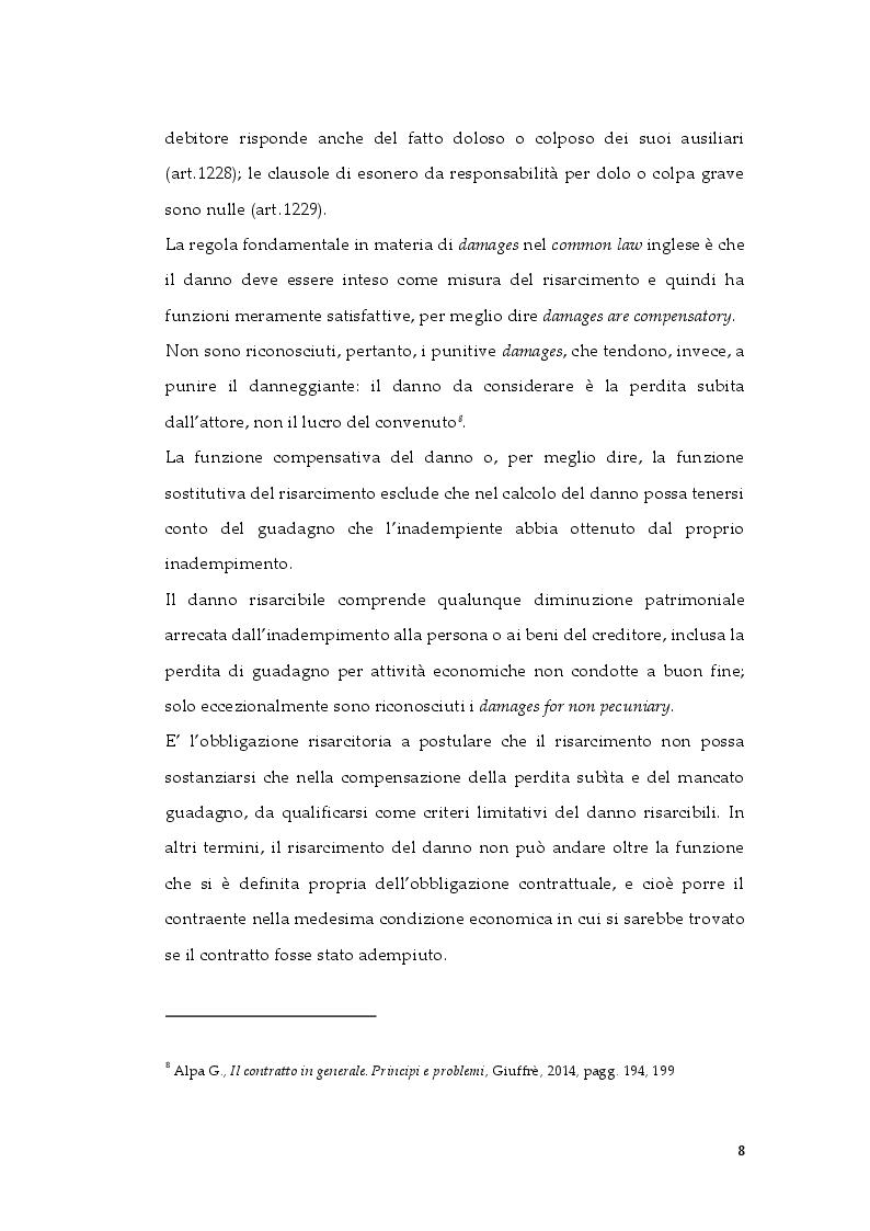 Anteprima della tesi: Tipologie di risarcimento del danno contrattuale. Profili di diritto comparato, Pagina 7