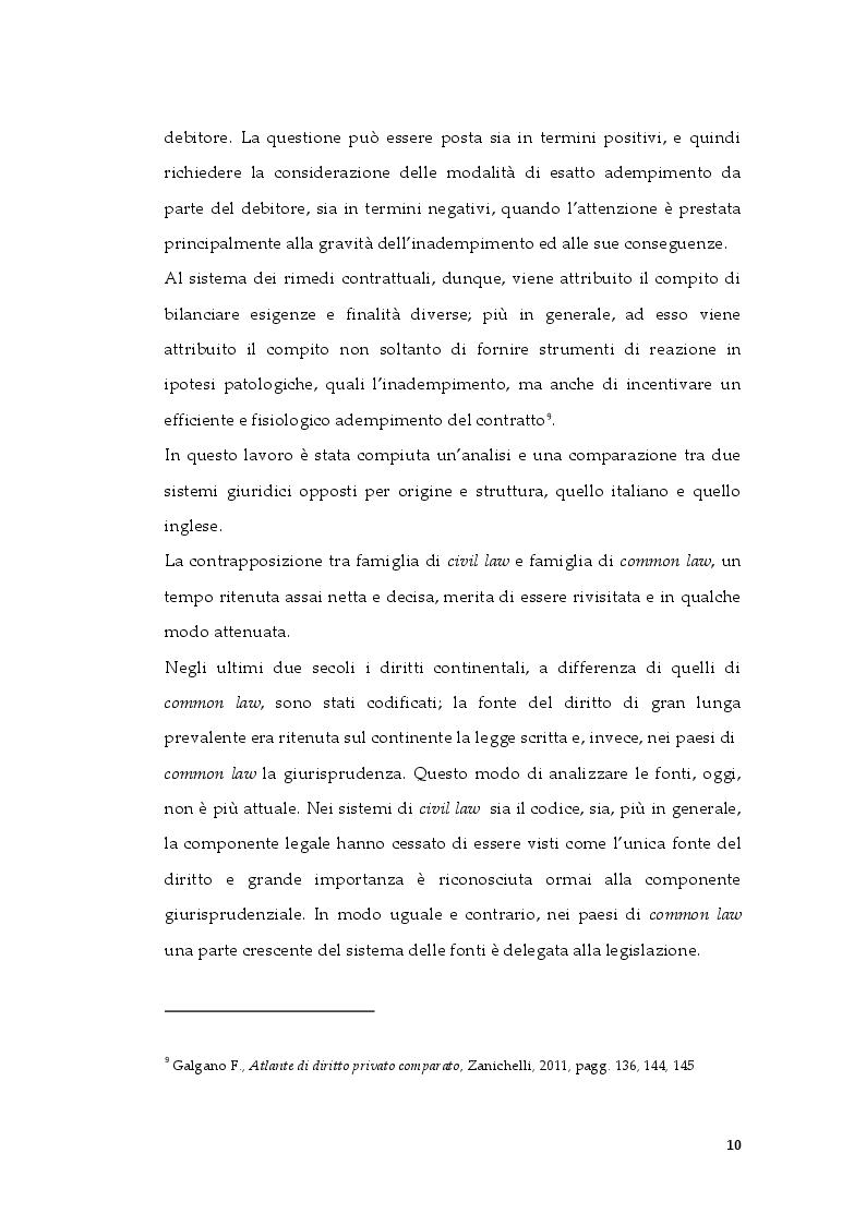 Anteprima della tesi: Tipologie di risarcimento del danno contrattuale. Profili di diritto comparato, Pagina 9