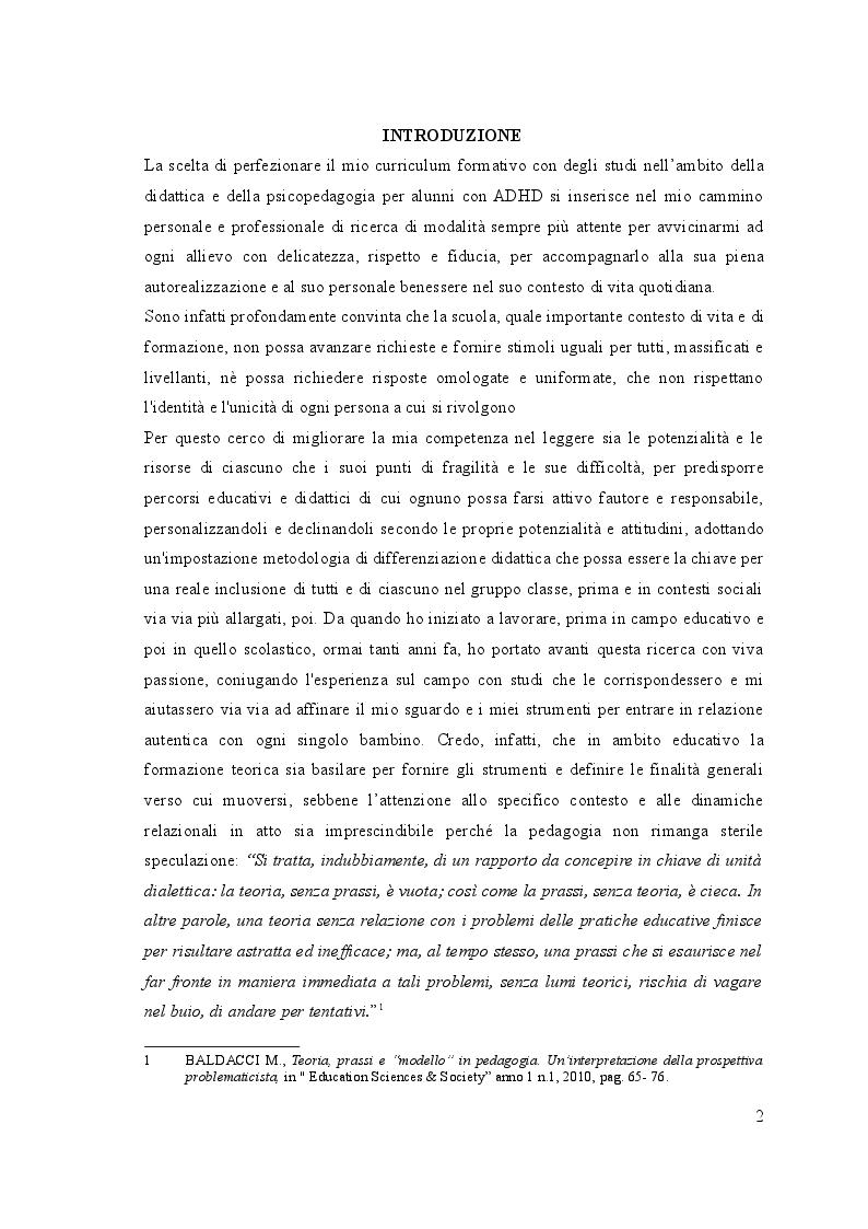 Anteprima della tesi: UN, DUE, TRE … START! Spunti montessoriani ed elementi di contesto in gioco per  l'inclusione, Pagina 2
