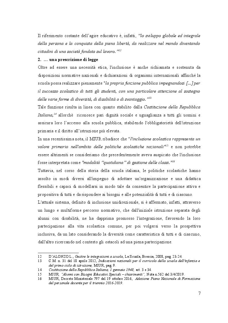 Anteprima della tesi: UN, DUE, TRE … START! Spunti montessoriani ed elementi di contesto in gioco per  l'inclusione, Pagina 7