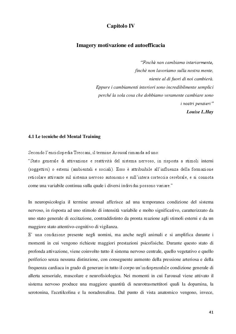 Anteprima della tesi: Imagery nello Sport. Ricerca empirica sull'esperienza di atleti disabili motori, Pagina 2