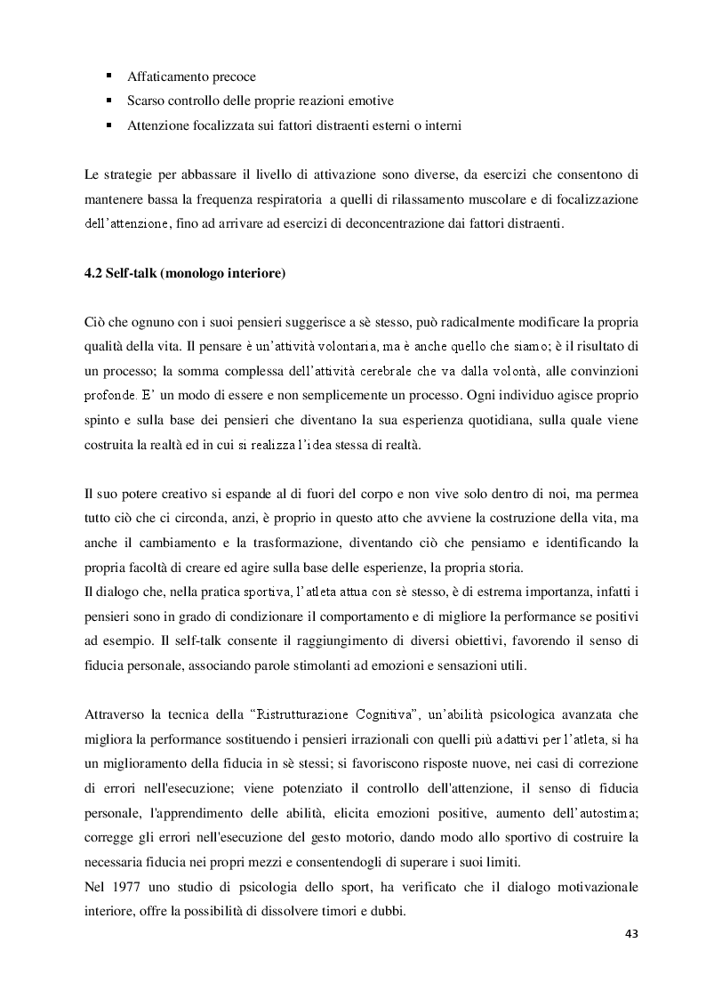 Anteprima della tesi: Imagery nello Sport. Ricerca empirica sull'esperienza di atleti disabili motori, Pagina 4