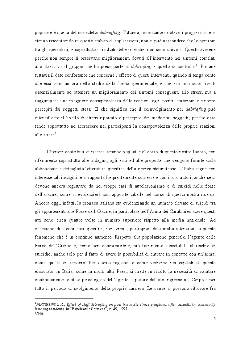 Anteprima della tesi: Lo stress lavoro correlato nell'ambito delle forze di polizia, Pagina 5