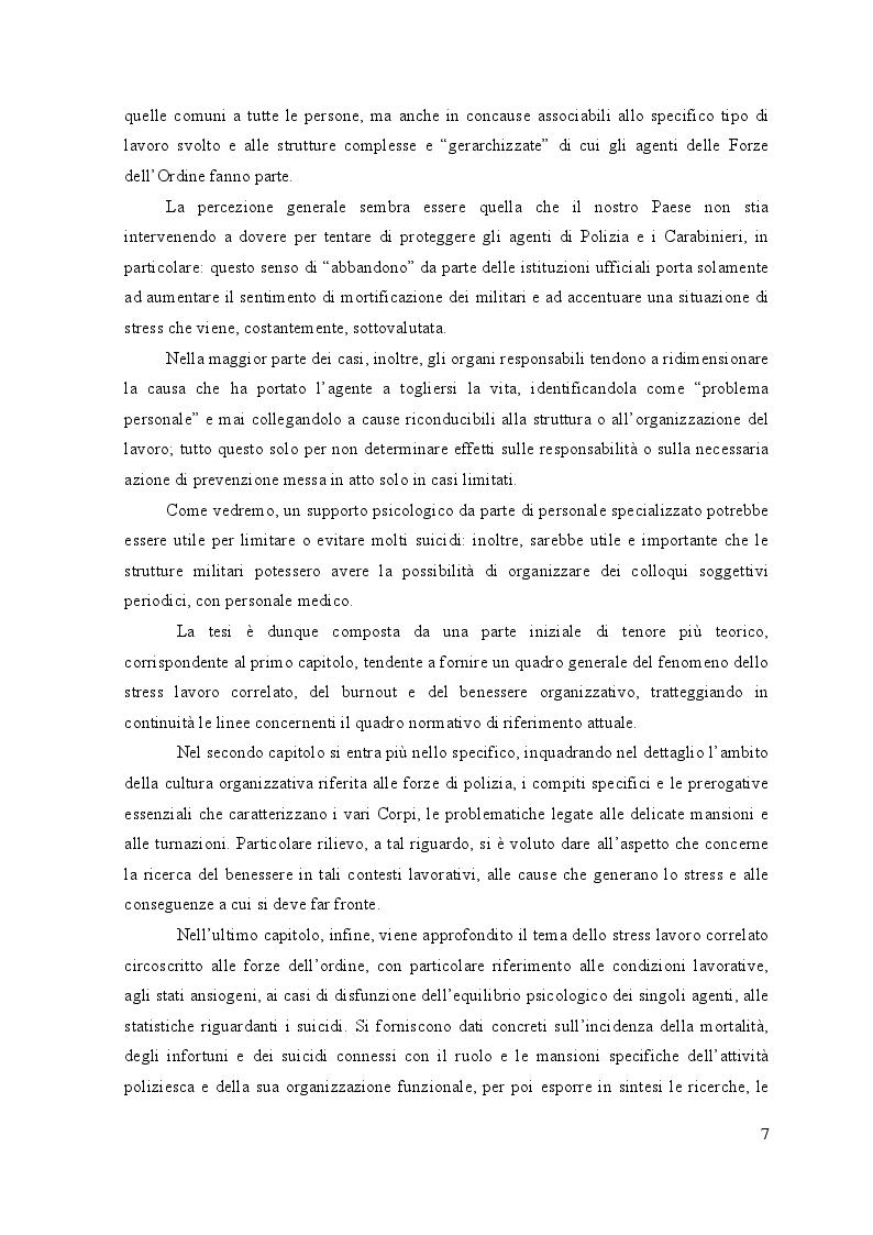 Anteprima della tesi: Lo stress lavoro correlato nell'ambito delle forze di polizia, Pagina 6
