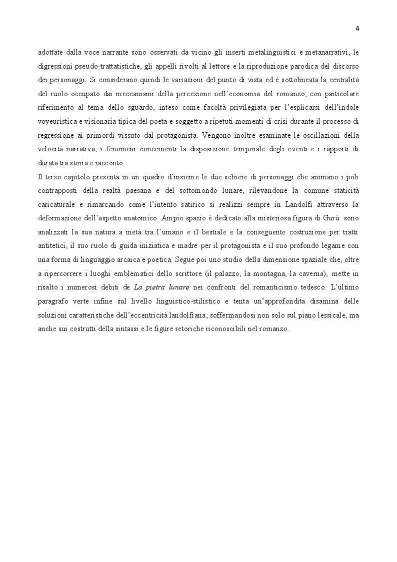 Anteprima della tesi: Tommaso Landolfi. La pietra lunare, Pagina 3