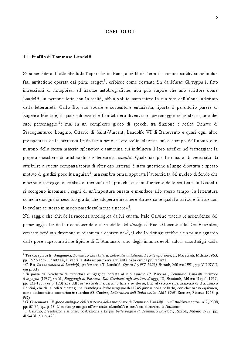 Anteprima della tesi: Tommaso Landolfi. La pietra lunare, Pagina 4