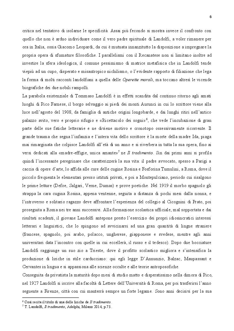 Anteprima della tesi: Tommaso Landolfi. La pietra lunare, Pagina 5