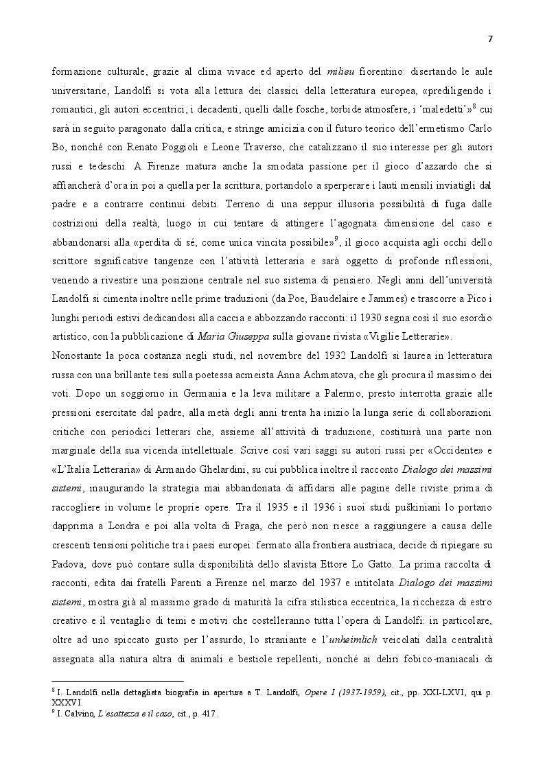 Anteprima della tesi: Tommaso Landolfi. La pietra lunare, Pagina 6