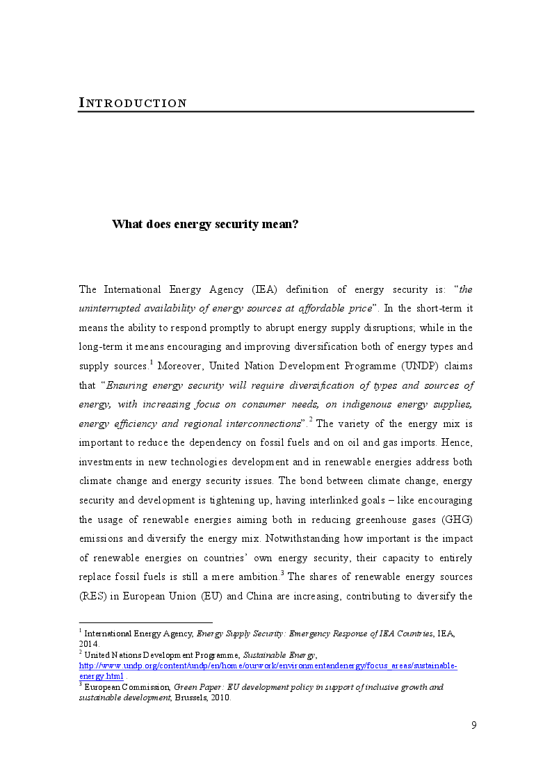 Anteprima della tesi: China and Europe's Energy Security in Sub-Saharan Africa: similarities and challenges, Pagina 2