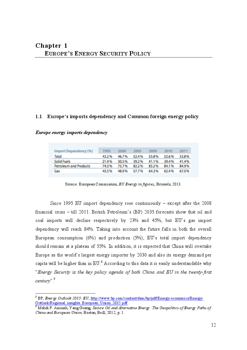 Anteprima della tesi: China and Europe's Energy Security in Sub-Saharan Africa: similarities and challenges, Pagina 5