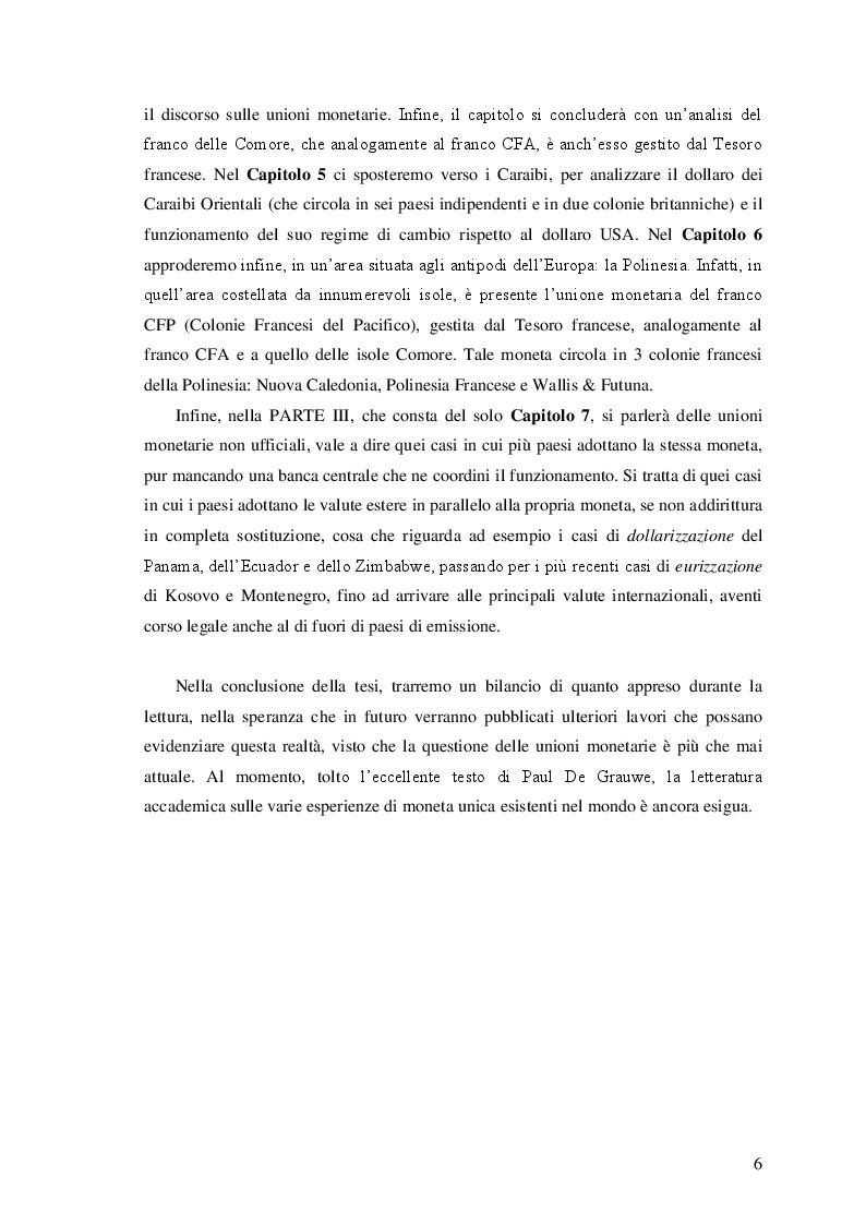 Anteprima della tesi: Le unioni monetarie nel mondo, Pagina 4