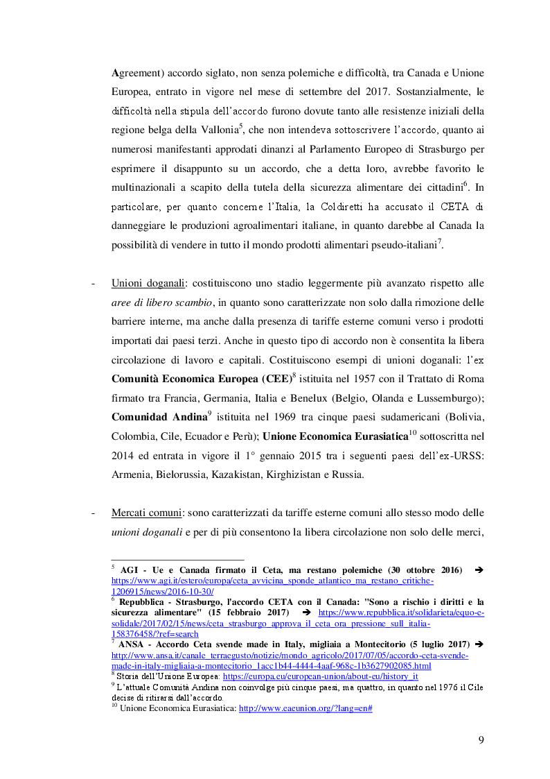 Anteprima della tesi: Le unioni monetarie nel mondo, Pagina 7