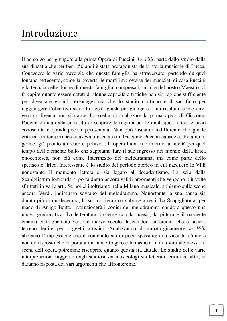 Anteprima della tesi: Celle - Milano prima tappa Le Villi. Giacomo Puccini e la sua prima opera, Pagina 2