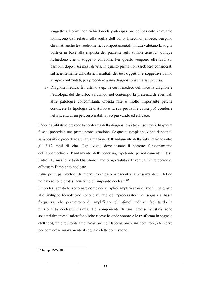 Anteprima della tesi: L'inclusione della persona con disabilità uditiva, Pagina 3