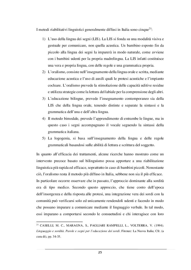 Anteprima della tesi: L'inclusione della persona con disabilità uditiva, Pagina 6