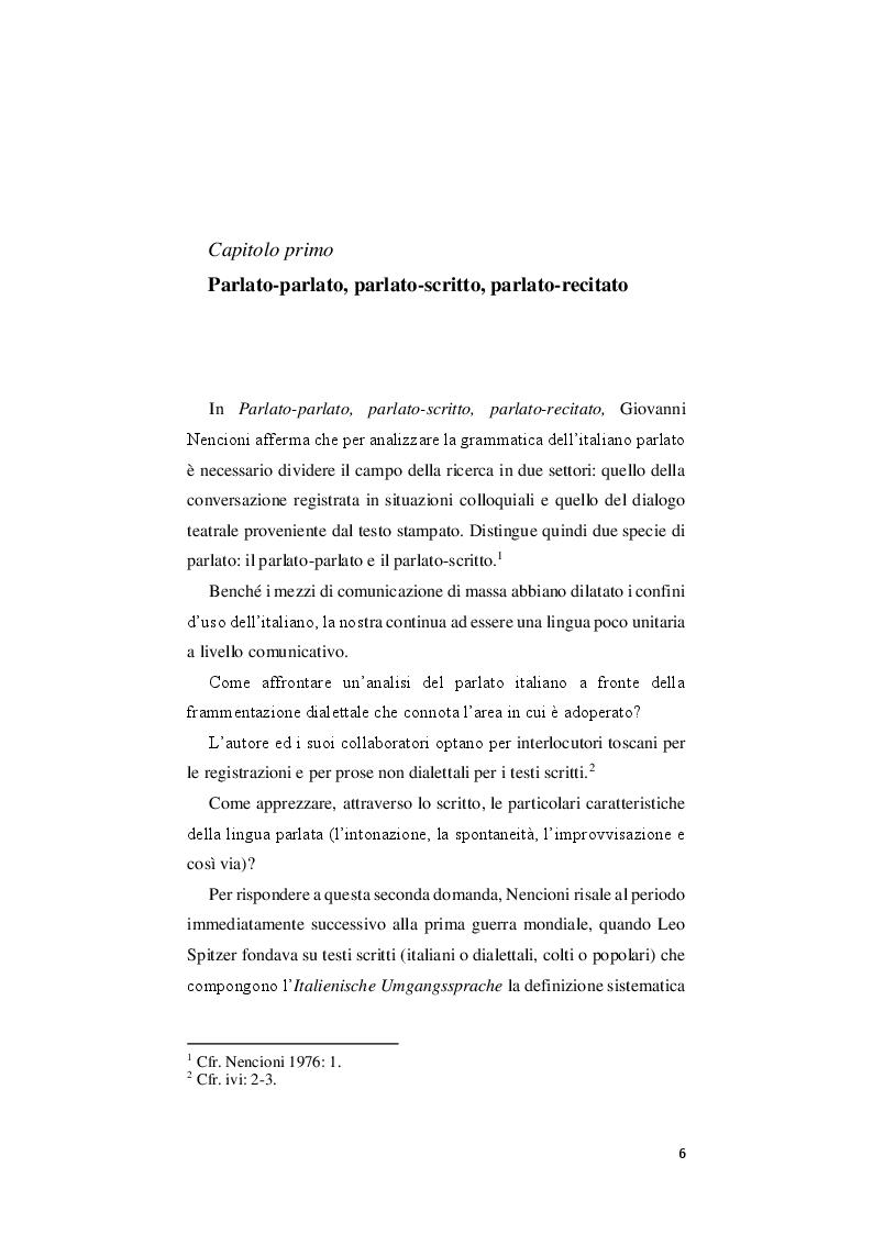 Anteprima della tesi: Gli studi sull'italiano parlato dell'ultimo quarto del Novecento: un quadro d'insieme, Pagina 4
