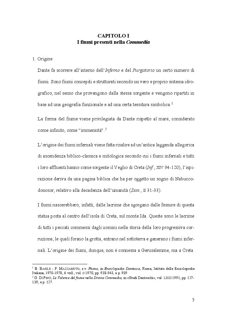 Anteprima della tesi: Aspetti e problemi dell'idrografia dantesca, Pagina 5