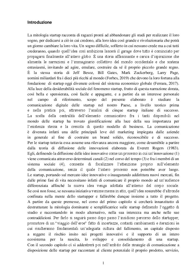 Anteprima della tesi: StartupTelling. La comunicazione digitale delle startup italiane., Pagina 2