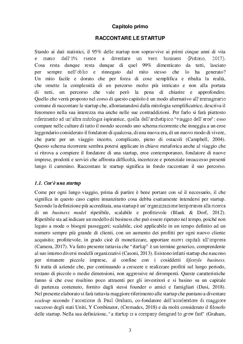 Anteprima della tesi: StartupTelling. La comunicazione digitale delle startup italiane., Pagina 4