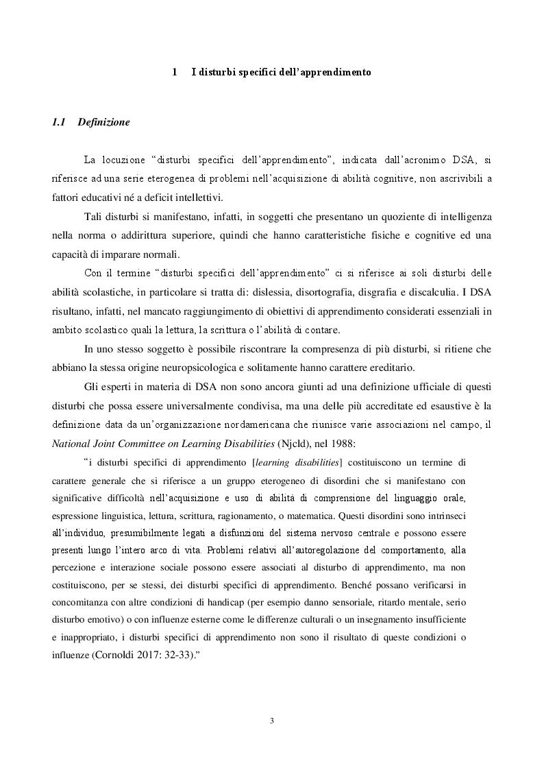 Anteprima della tesi: L'insegnamento dell'italiano L2 e la dislessia evolutiva - Metodi e tecniche per una didattica finalizzata, Pagina 4