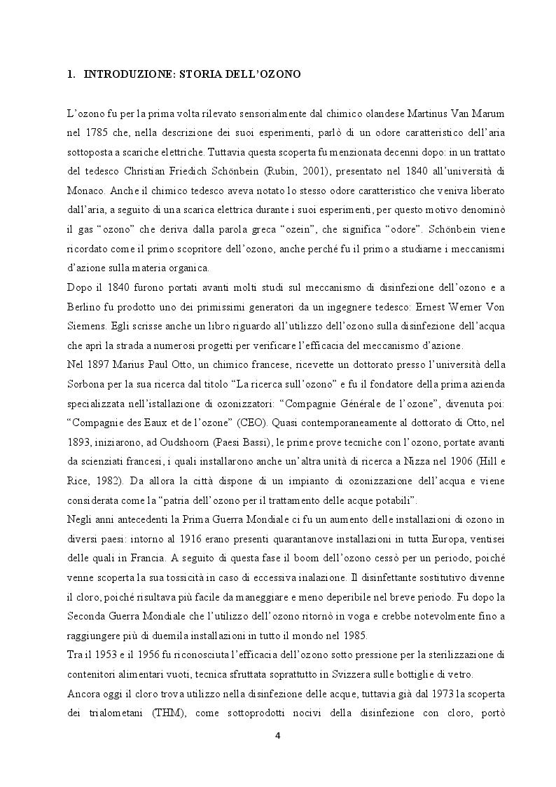 Anteprima della tesi: Utilizzo dell'ozono per il trattamento di alimenti conservati in frigorifero domestico, Pagina 2