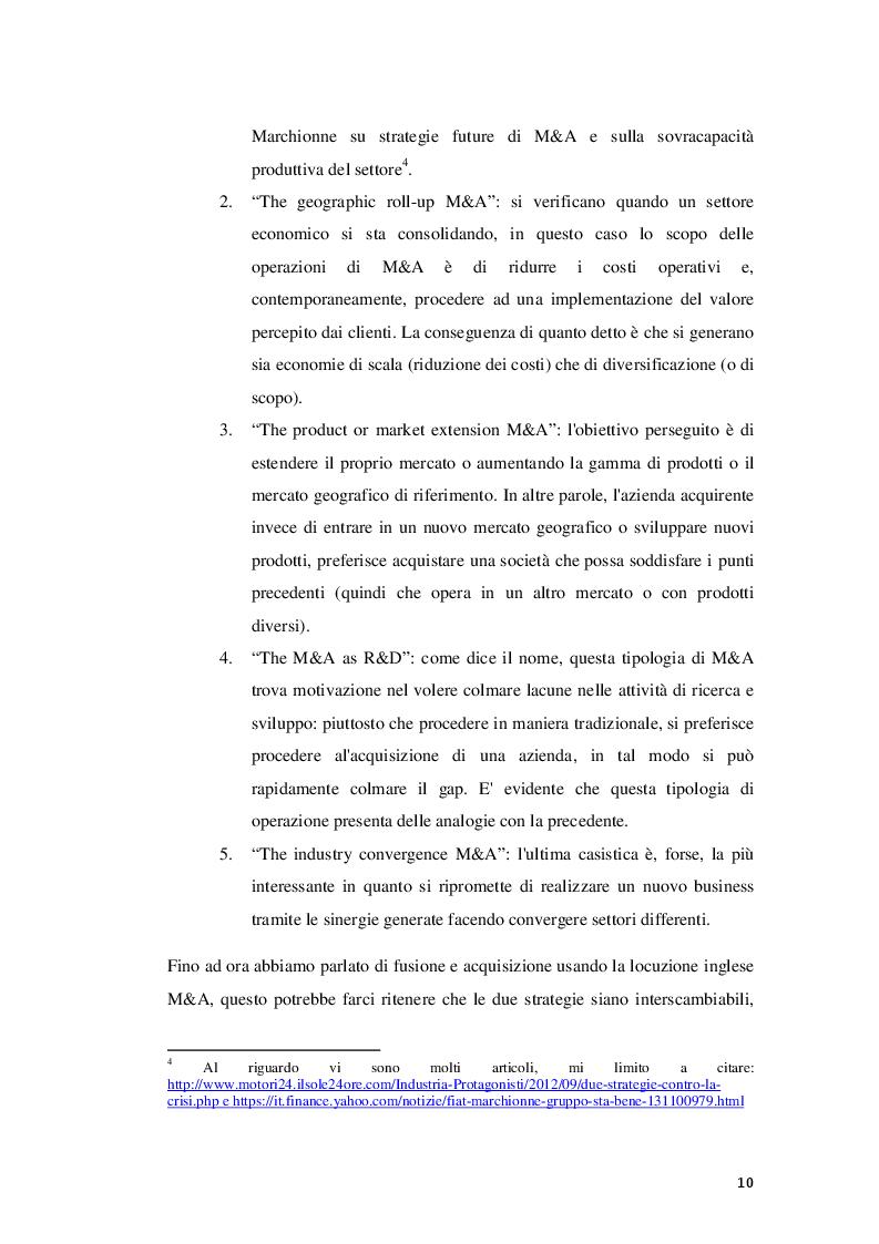 Estratto dalla tesi: Fusioni e Acquisizioni come strategia di crescita per le imprese: il caso Aon S.p.A.