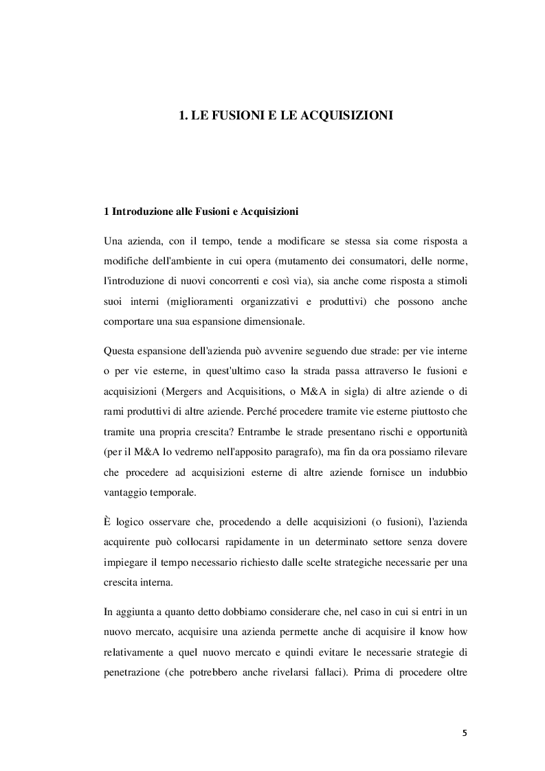Anteprima della tesi: Fusioni e Acquisizioni come strategia di crescita per le imprese: il caso Aon S.p.A., Pagina 4