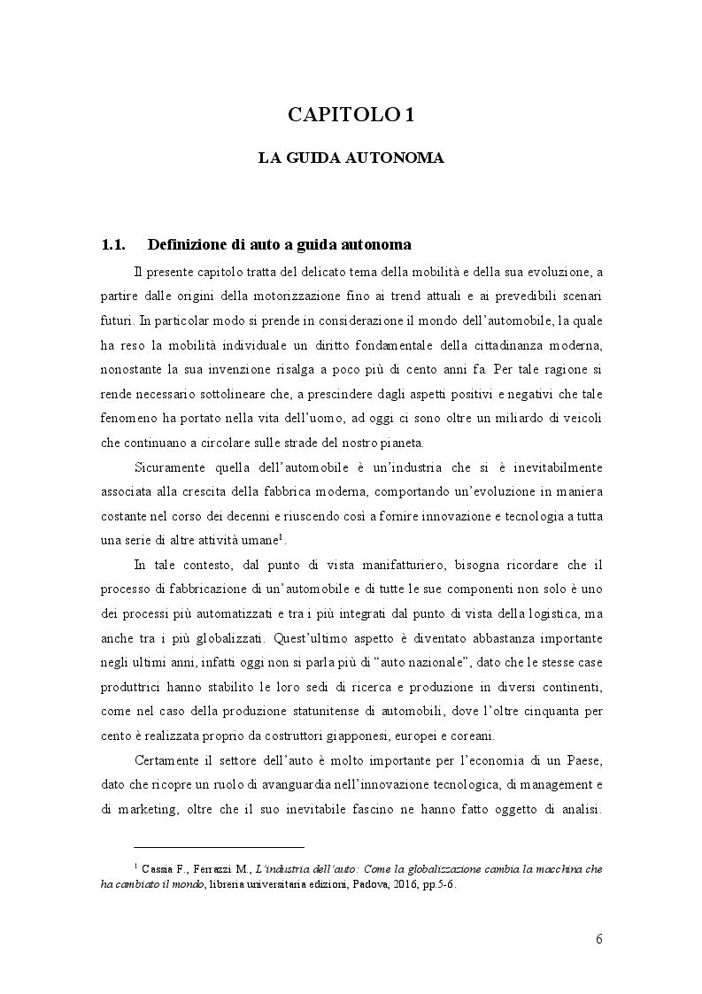 Anteprima della tesi: AUTO A GUIDA AUTONOMA: implicazioni economiche ed effetti sociali, Pagina 2