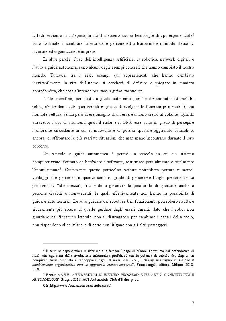 Anteprima della tesi: AUTO A GUIDA AUTONOMA: implicazioni economiche ed effetti sociali, Pagina 3