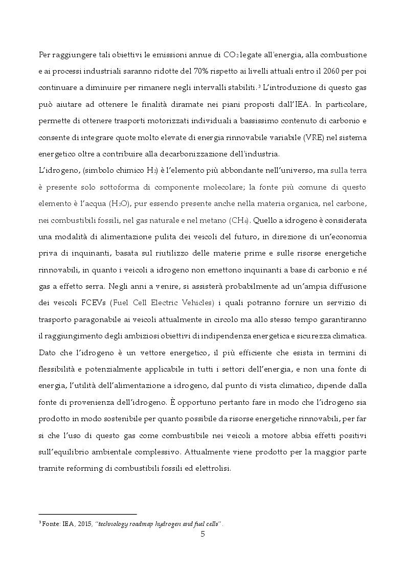 Anteprima della tesi: Tecnologie di stoccaggio e trasporto dell'idrogeno, Pagina 4