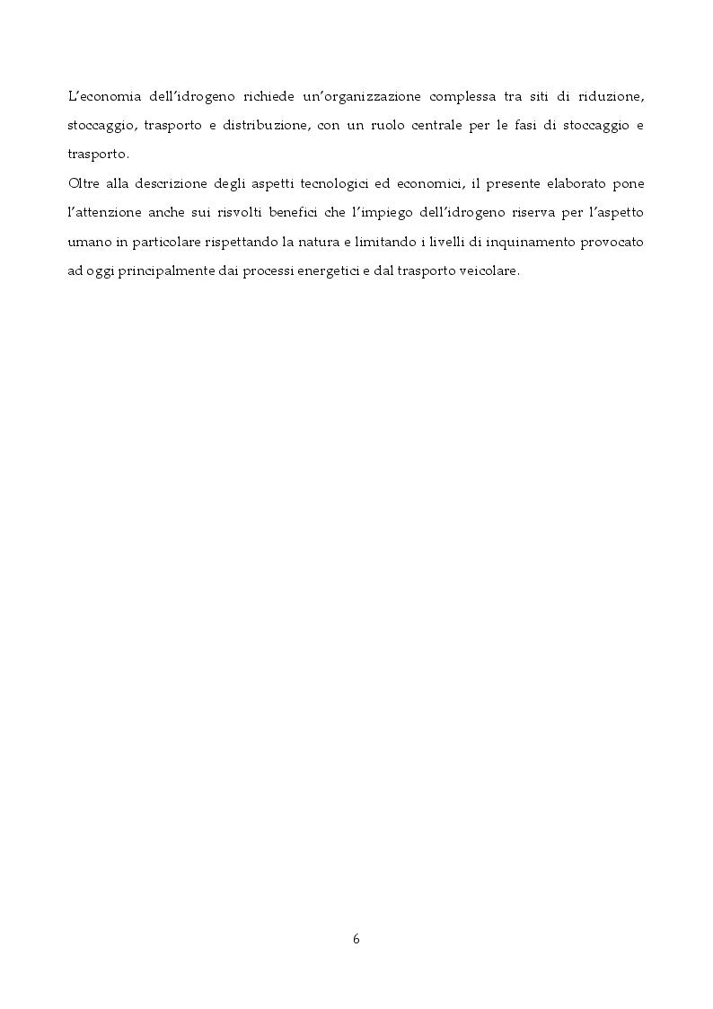 Anteprima della tesi: Tecnologie di stoccaggio e trasporto dell'idrogeno, Pagina 5
