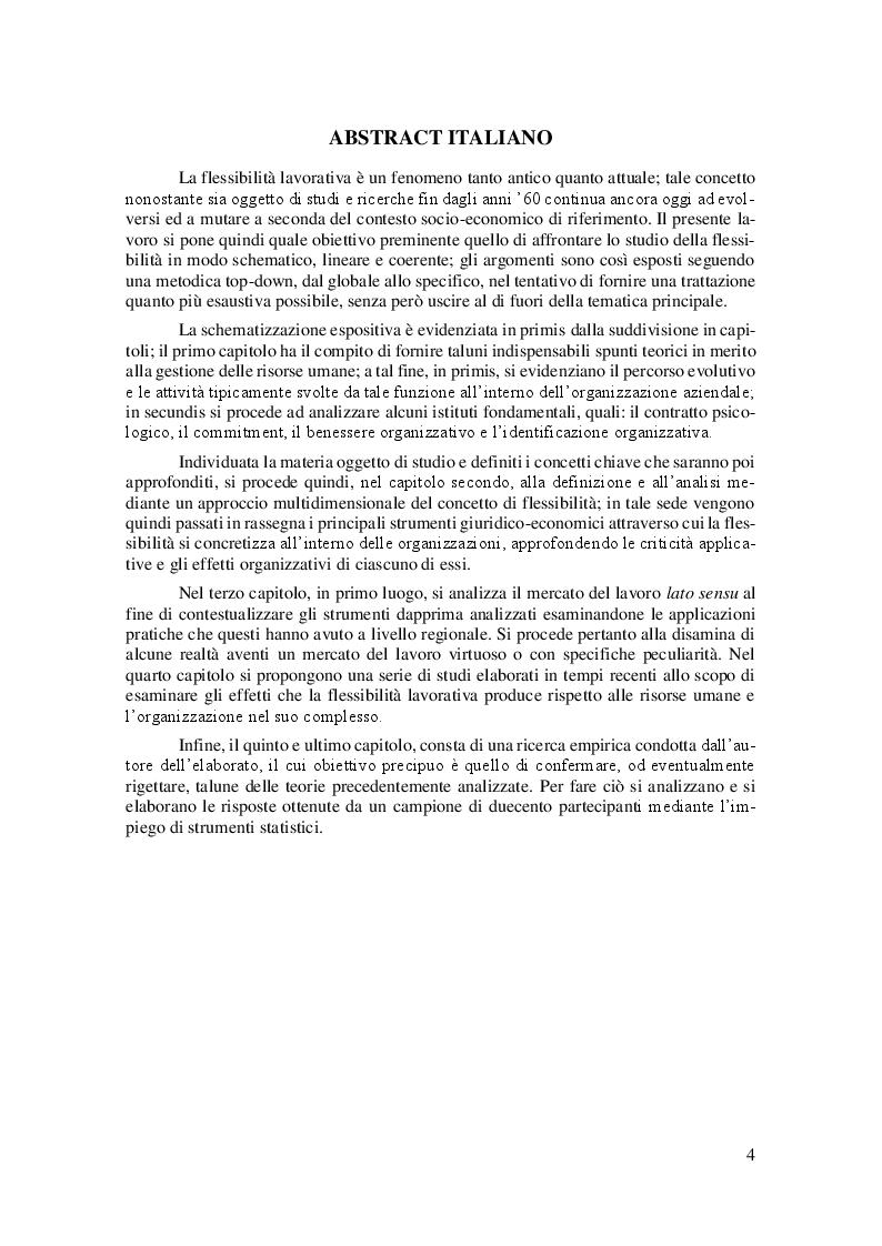 Anteprima della tesi: La Linea Sottile tra Flessibilità e Precariato: gli effetti del lavoro flessibile sulle risorse umane, Pagina 2