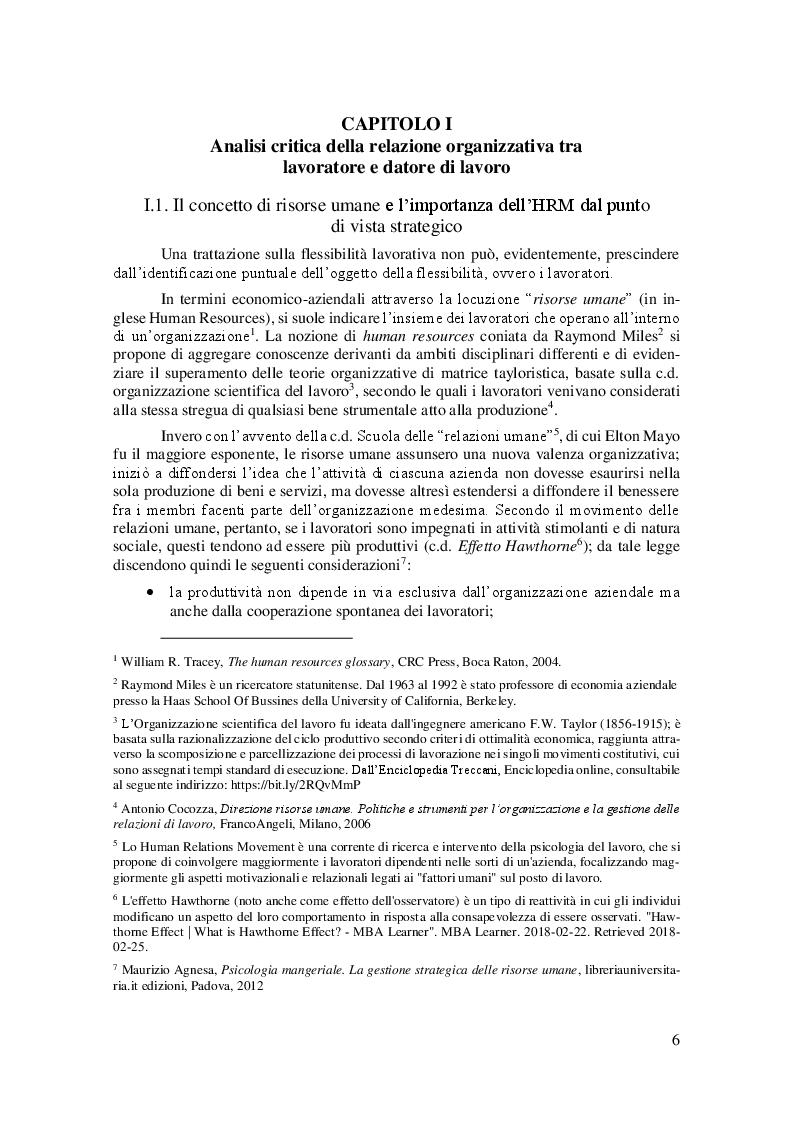 Anteprima della tesi: La Linea Sottile tra Flessibilità e Precariato: gli effetti del lavoro flessibile sulle risorse umane, Pagina 3