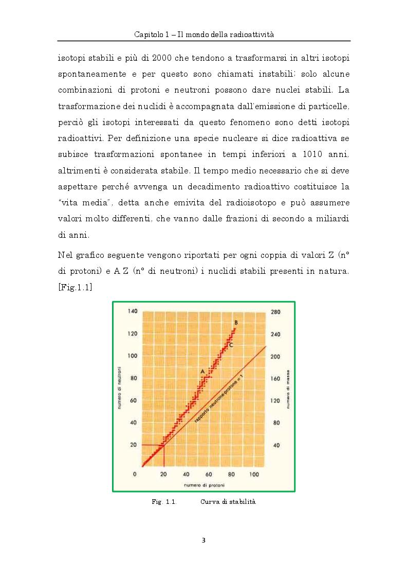 Anteprima della tesi: Misure di radioattività nelle acque di scarico finalizzate alla definizione del bilancio di massa e del comportamento idrodinamico di un impianto di depurazione, Pagina 6