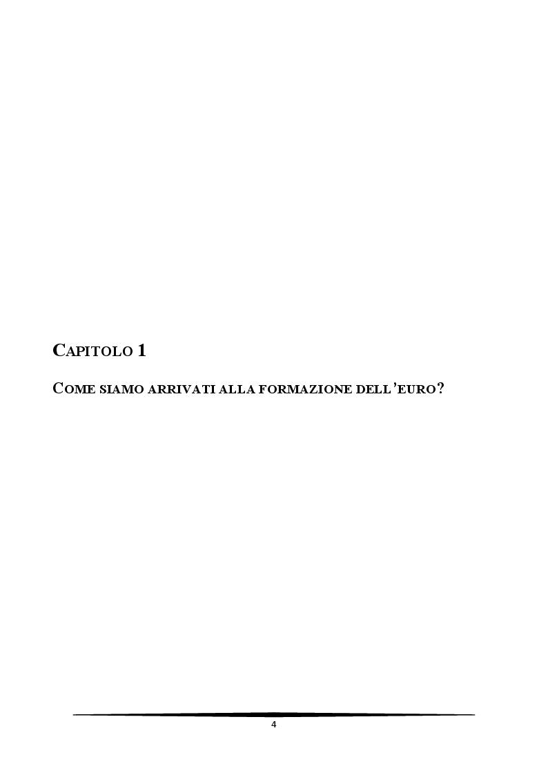 Anteprima della tesi: L'Italia e l'euro: quali prospettive?, Pagina 4