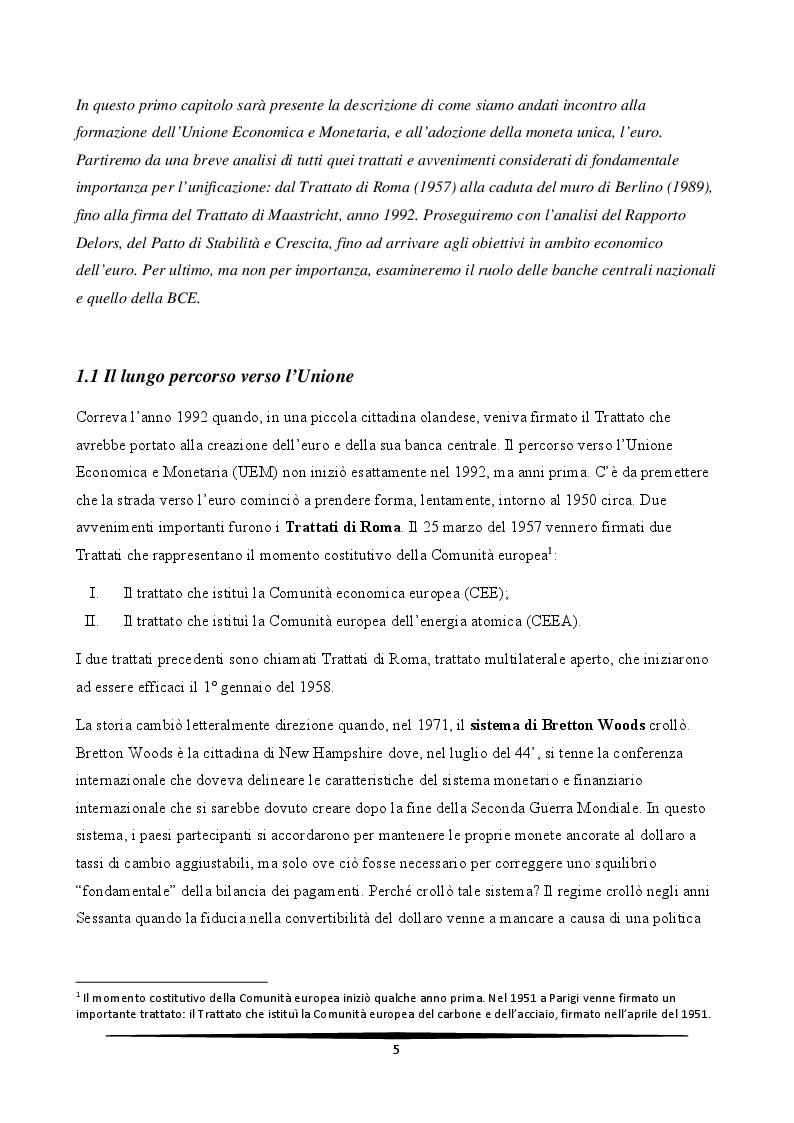 Anteprima della tesi: L'Italia e l'euro: quali prospettive?, Pagina 5