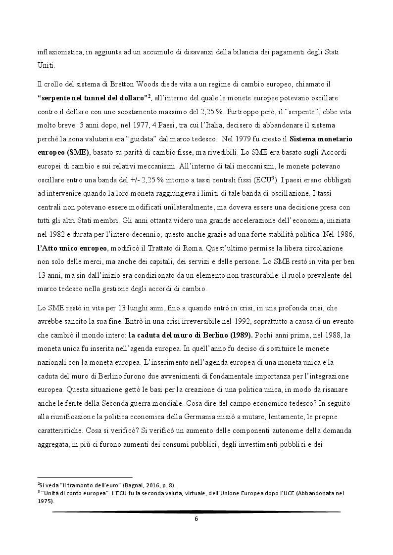 Anteprima della tesi: L'Italia e l'euro: quali prospettive?, Pagina 6