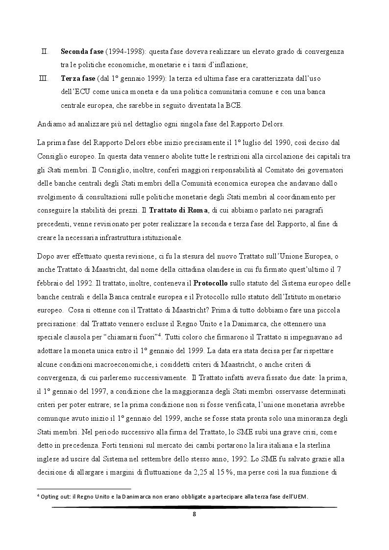 Anteprima della tesi: L'Italia e l'euro: quali prospettive?, Pagina 8
