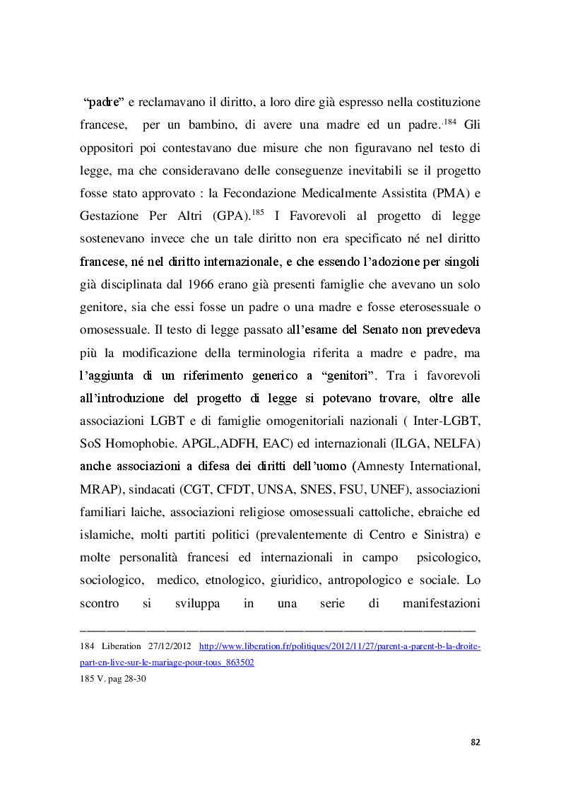 Anteprima della tesi: Familles pour tous? Famiglie omogenitoriali e società dopo l'introduzione della 404/13: testimonianze dalla regione Provence Alpes - Cote d'Azur, Pagina 10