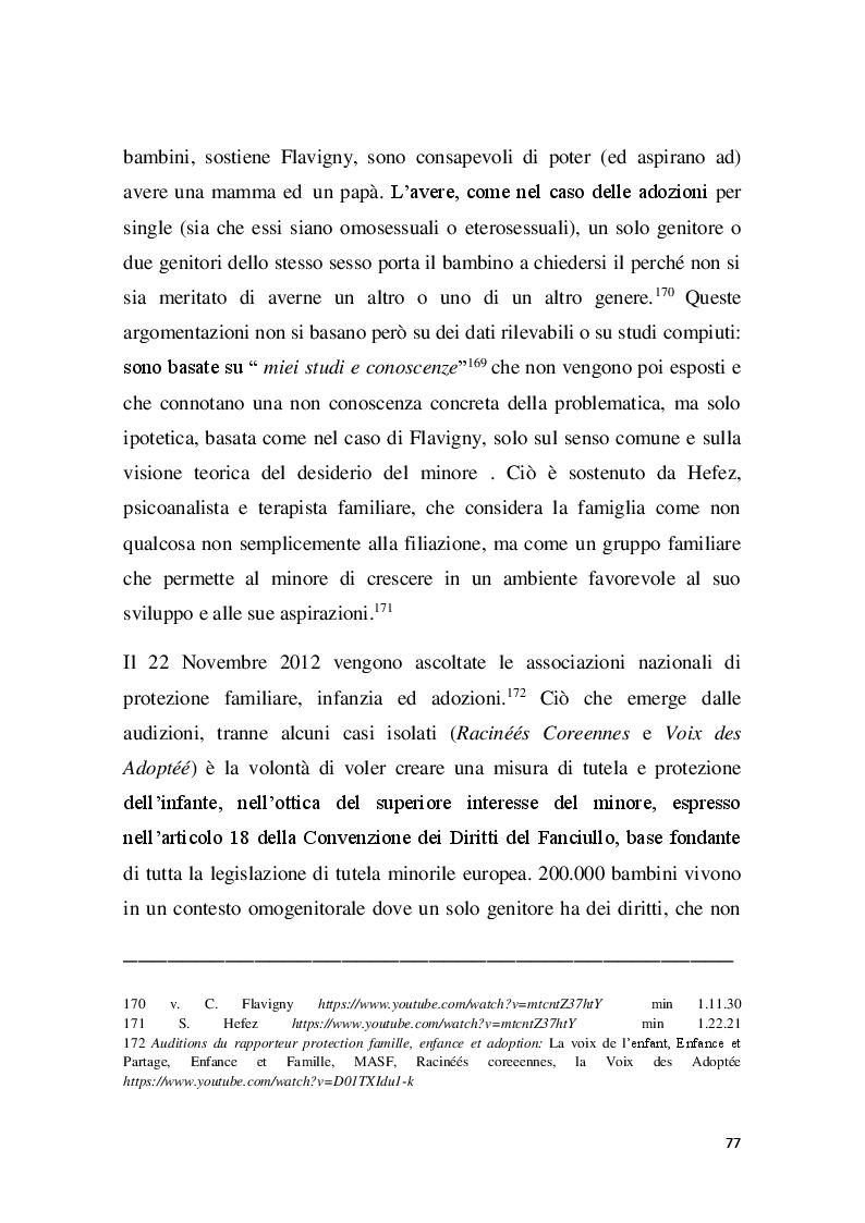 Anteprima della tesi: Familles pour tous? Famiglie omogenitoriali e società dopo l'introduzione della 404/13: testimonianze dalla regione Provence Alpes - Cote d'Azur, Pagina 5