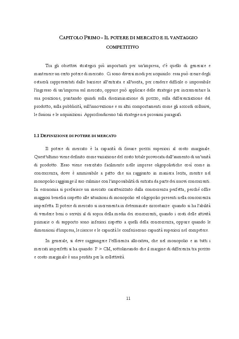 Anteprima della tesi: Potere di mercato e Abusi di posizione dominante: l'occhio vigile dell'Antitrust, Pagina 2