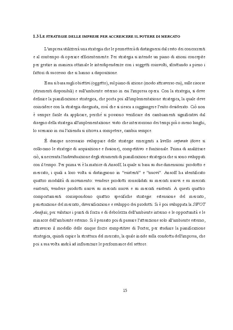 Anteprima della tesi: Potere di mercato e Abusi di posizione dominante: l'occhio vigile dell'Antitrust, Pagina 6