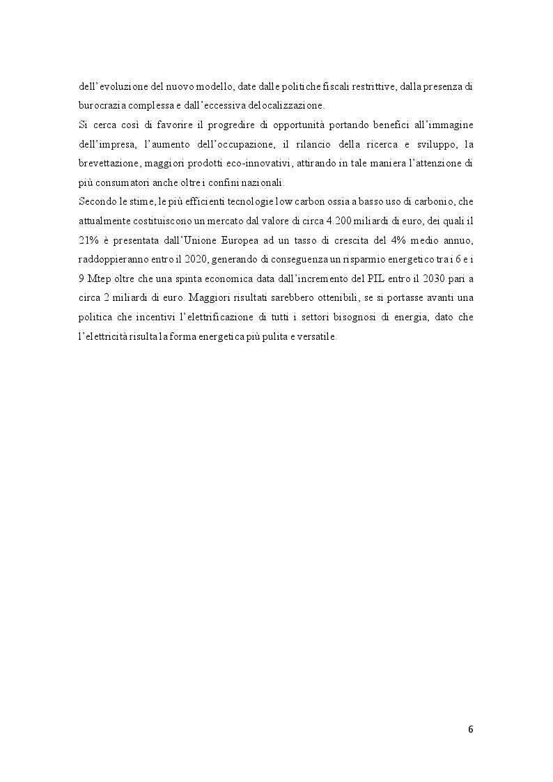 Anteprima della tesi: Efficienza energetica nazionale e strumenti incentivanti: un quadro di sintesi della situazione italiana, Pagina 5