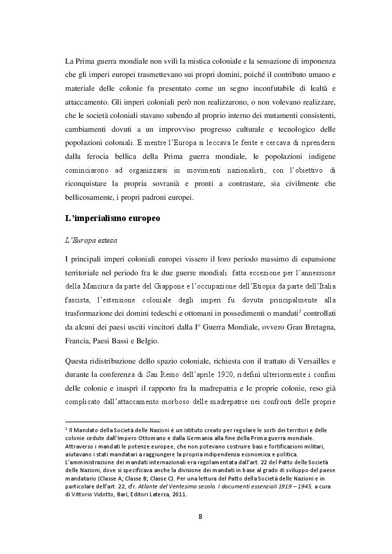 Anteprima della tesi: La decolonizzazione globale, Pagina 6