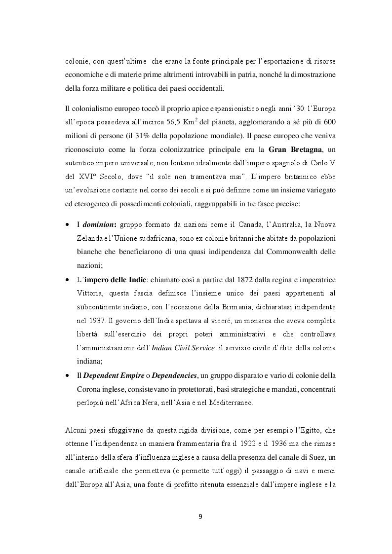 Anteprima della tesi: La decolonizzazione globale, Pagina 7