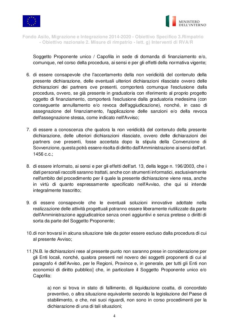 """Estratto dalla tesi: Presentazione del Progetto di Rimpatrio Volontario Assistito """"I Colori del Futuro"""""""